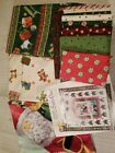 Old Fashion Santa Quilt Kit COTTON RED ROOSTER Retro Christmas  Quilt Top Kit