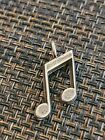 VINTAGE STERLING SILVER MUSICAL NOTES CLEFT NOTE PENDANT