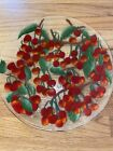 WILLIAM MC GRATH CHERRIES JUBILEE SIGNED FUSED GLASS PLATTER 14 EXCELLENT
