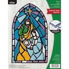 Bucilla Felt Applique Wall Hanging Kit Stained Glass Nativity