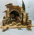 Anri Nativity Creche 1960s Christmas Set Walter Bacher Figures Carved Wood