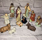 Vintage Artmark 11 Piece Porcelain Nativity Set Christmas 1996