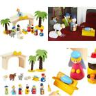 Multicolored 15 Piece Kids Nativity Set Christmas Nativity Scene Playset Figures