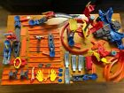 Lot of Hot Wheels Trick Tracks And Accessories about 45 pieces