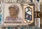 2019 Topps Dynasty Rickey Henderson Autograph Mariners Sick Logo Patch Card # 5
