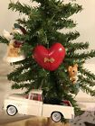 Lot of 4 Hallmark Ornaments including 1955 Chevrolet Cameo & Heart of Christmas