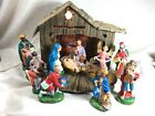 VINTAGE CHRISTMAS NATIVITY MANGER SET 12 FIGURINES MADE IN ITALY 12 Figurines
