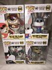 DC Looney Tunes FYE Exclusive Funko POP! Set - Bugs, Wile E., Taz, Sylvester