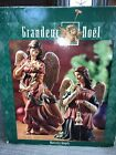 Grandeur Noel Nativity Angels Set Of 2 Hand Painted N0087 EUC