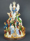 Thomas Kinkade O Holy Night Lighted Nativity Tabletop Tree With Narration