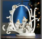 Lighted Nativity Scene Plays Joy To The World 9L x 7 3 4H col N23