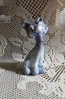 Fenton Art Glass FAGCA 2007 Blue  Brown Slag Mini Happy Kitty Cat MEOW NEW NIB