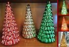 Lighted Crackled Glass Trees Vintage Mercury Glass Holiday Christmas Table Decor
