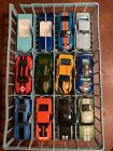 Lot Of 12 Hot Wheels Ford Shelby Mustang Diecast Cars Blue Holder Included
