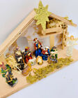 Christmas Nativity Set Manger Figures Polyresin Figurines Baby Jesus