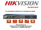 HIKVISION DS 3E0318P E 16 Port Fast Ethernet Unmanaged POE Switch IEEE 8023af a