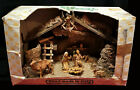 Box Set ITALY FONTANINI Spider NATIVITY SCENE 10 Pc 20 Wood STABLE Jesus Camel