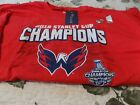 Men's 2018 Stanley Cup Champions Washington Capitals Red T-Shirt Size 4 XL