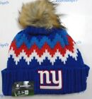New York Giants New Era Women's Knit Hat On Field Cuffed Pom Beanie