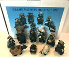 Kurt Adler Resin Nativity Bear Set 4 w Box 9 Piece Mint Condition