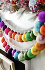Cody Foster Rainbow Glass Ball Garland With SILVER Tinsel 7 Each New in Box