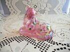 Fenton Art Glass Pink Floral Horse Foal 5057 NEW