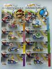 HOT WHEELS SUPER MARIO KART SET OF 8 YOSHI PEACH WARIO BOWSER LUIGI