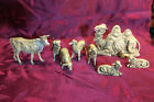 Vintage Fontanini Italy Nativity Animals 5 scale 8 figure lot Camel Ox Sheep +
