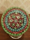 Large Perthshire Millefiori Concentric Paperweight 1988 w Twists