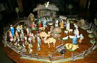 VINTAGE VERY OLD NATIVITY SCENE SET 80+ PIECES MOSTLY GERMANY 1940S UNIQUE