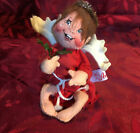 Annalee 6 inch Christmas Angel from Nativity Set Red Robe 94