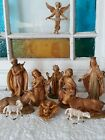 Vintage Nativity Scene 9 Figures Depose Italy Fontanini Simonetti and 2 Sheep