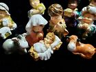 Vintage German Nativity Set 15 pieces Children banana holder