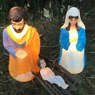 Vintage Empire Giant Life Size Nativity Set Lighted Christmas Outdoor Blow Mold