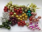 170 Vtg Mini 1 2 1 Glass Feather Tree Ball Christmas Ornament Wire Lot Craft
