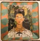 Retro Frida Kahlo Vines Collector Medium Glass Plate signed numbered 8x8