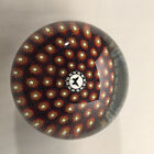 Signed Mike Hunter Glass Paperweight with Millefiori Decoration