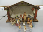 Beautiful Vintage Goebel Hummel 14 Piece Nativity Set and Stable West Germany