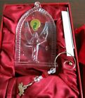 Waterford Lead Crystal 2007 NATIVITY ANGEL Ornament w Box  Enhancer Ireland