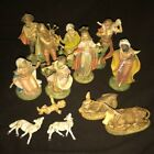 Vintage Fontanini Nativity 120 Figures Joseph Mary Jesus Animals Wiseman Lot 2