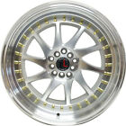 TRAKLITE TURBO 17x8 5x1143 5X100 RIMS FOR NISSAN TOYOTA HONDA SUBARU SET OF 4