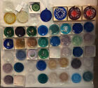Huge Lot of 49 Vintage Pairpoint Glass Cup Plates Ornaments Wedding Favors