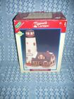 LEMAX White Cliff Lighthouse Porcelain Village Collection Plymouth Corners A-619