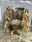 Large Holy Family Christmas Nativity Set of 3 NIB 10  9 Jesus Mary Joseph