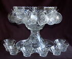 STAR OF DAVID EAPC Anchor Hocking PUNCH BOWL 18 Cups  Underplate