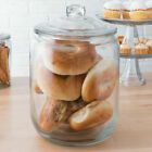 2 Gallon Clear Glass Round Cookie Food Container Wedding Candy Jar w Glass Lid