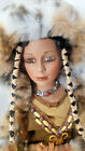 Duck House Heirloom Porcelain Doll NATIVE AMERICAN INDIAN W PAPOOSE Large 28