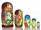 Nativity scene Nesting dolls 7 1 2 Matryoshka Vintage Wooden Nativity Set