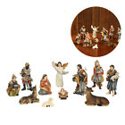 Small 11Pcss Resin Nativity Scene Figurines Kit Statue Decoration Gifts