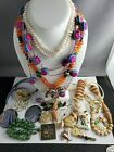 Unique Jewelry Lot Includes Jade And Genuine Pearl cloisonne